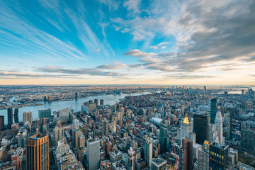 View of buildings in Midtown Manhattan and the East River in New York City Fototapete