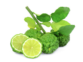bergamot with half isolated on white background