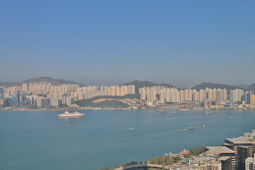 View of HK skyline from Quarry Bay