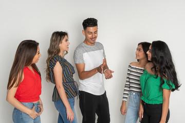 Group of Five Hispanic Teenagers