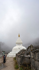 Chortens are important structures in Buddhism conveying stages of enlightenment. Khumjung has the longest Mani wall or rows of prayer stones.