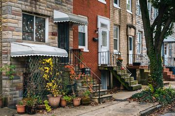 Wall Mural - Row homes in Remington, Baltimore, Maryland