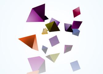 背景 図形 立体 三角形