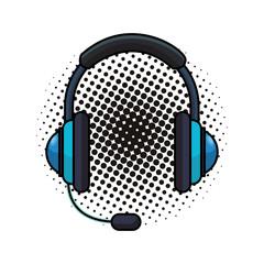 Call center headset pop art