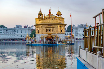 Golden temple view from its backside in amritsar