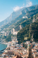 View of Amalfi, in Campania, Italy