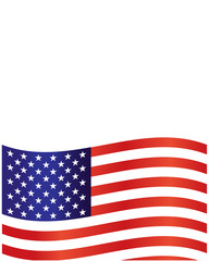 American flag frame background with empty space for your text.