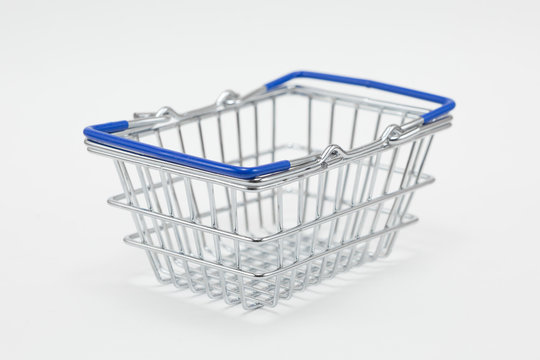 Steel shopping basket