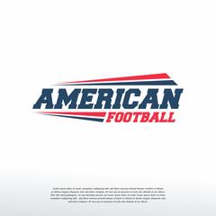 American Football Logo Logotype template, Fast American Football logo symbol