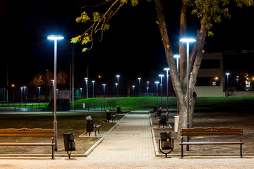 public Park infrastructure, night lighting Fotomurales