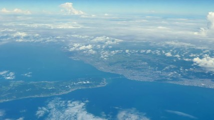 Wall Mural - 飛行機からの風景 淡路島