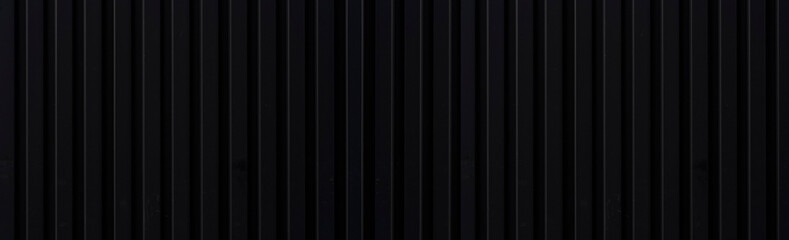 Panorama of Black metal fence pattern and background seamless