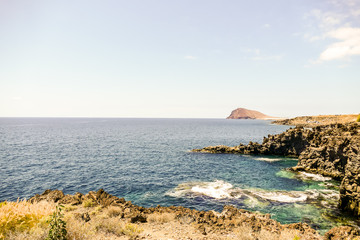 Ocean Coast's View in El Medano Tenerife South, Tenerife, Canary Islands