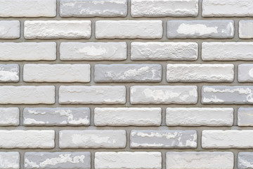 White stone brick wall texture and background seamless