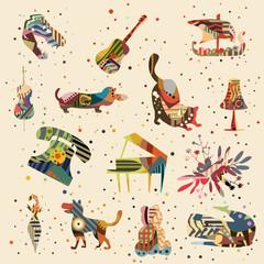 patten backgrounds vector illustration