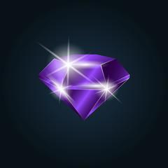 Amethyst gemstone shining