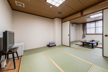 Interior of Japanese living room in Japanese house