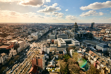 Keuken foto achterwand Brussel Brussels in the sky