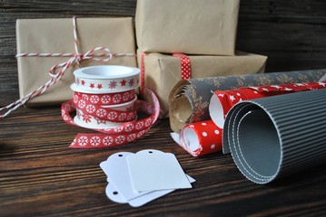 Obraz Pakowanie prezentów - fototapety do salonu
