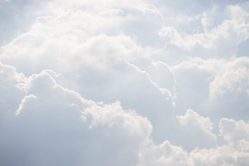 white cloud background and texture. white sky in cloudy day.