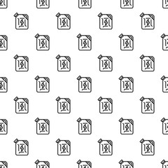 Fuel canister pattern seamless vector repeat for any web design
