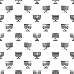 Menorah pattern seamless vector repeat for any web design