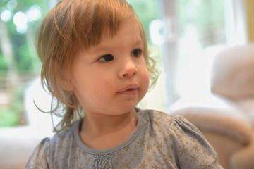 Blonde Caucasian child