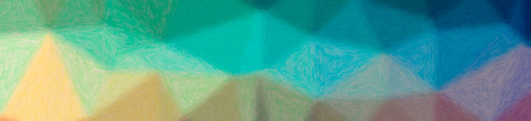 Illustration of abstract Blue, Green And Purple Impasto Banner background.