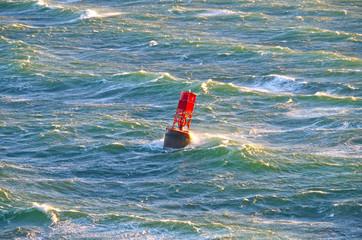 Buoy in heavy winds