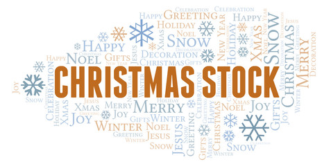 Christmas Stock word cloud.