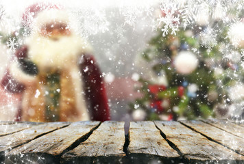 Christmas background table