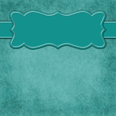 Teal background with header banner