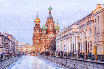 Church of the Savior on Spilled Blood in St. Petersburg Fototapete
