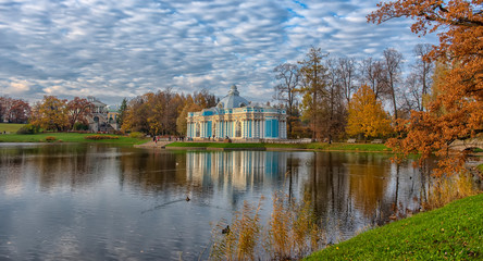 Pavilion Grotto and Cameron's Gallery in Catherine park in Tsarskoye Selo (Pushkin), Russia