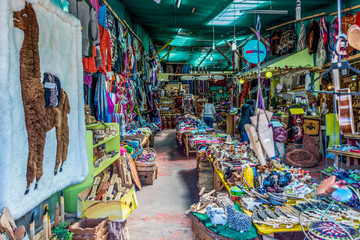 Typical artisanal market in the Angelmo district of Puerto Montt