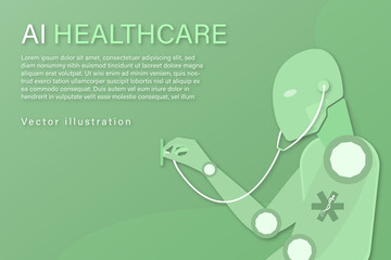 Business and finance. Vector illustration for artificial intelligence, data analysis or medical technology.