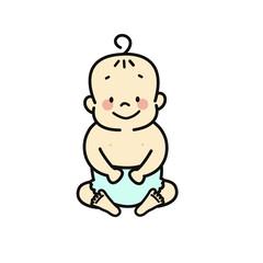 オムツの赤ちゃん