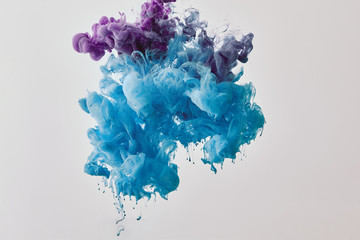 Wall Mural - background with purple and blue splash of paint