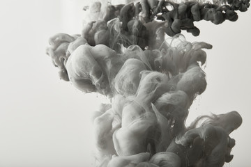 Wall Mural - black and white background with grey paint splash