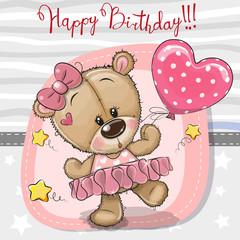 Cute Cartoon dancing Teddy Bear
