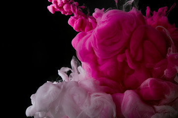 Wall Mural - abstract background with pink splash of paint