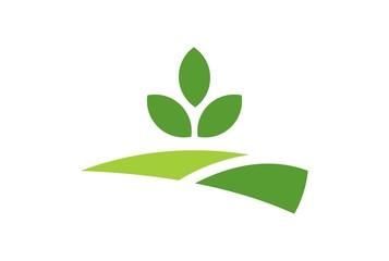green garden plantation logo icon