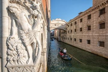 Seufzerbrücke in Venedig, Italien