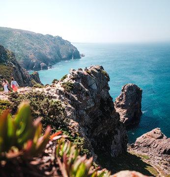 view from Cabo da Roca in a sunny day in Portugal