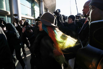 Singer Cardi B arrives at Queens County Criminal Court in the Queens Borough of New York
