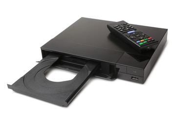 Blue Ray player with remote control