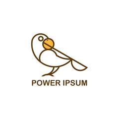 logo bird wit golden ratio