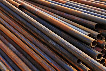 Oxidation rust steel pipe