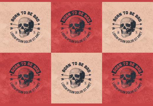 Skull and Bows Badge Layouts