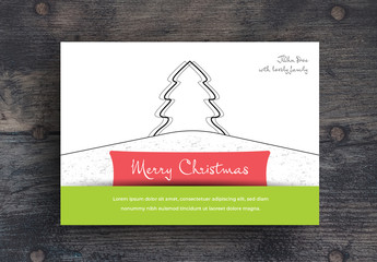 Illustrated Christmas Card Layout